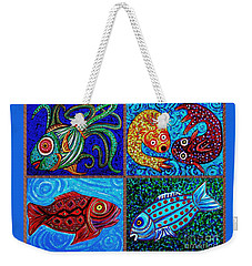 One Fish Two Fish Weekender Tote Bag by Sarah Loft