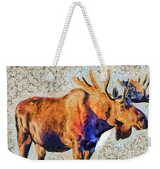 One Handsome Moose Weekender Tote Bag by Elaine Ossipov