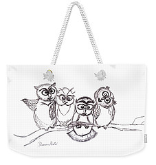 One Happy Family Weekender Tote Bag by Ramona Matei