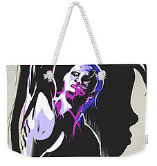 Weekender Tote Bag featuring the painting One Kiss Twice by John Jr Gholson