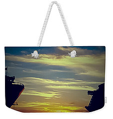 Weekender Tote Bag featuring the photograph One Last Glimpse by DigiArt Diaries by Vicky B Fuller