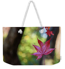 One Leaf Falls Weekender Tote Bag