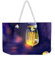 Weekender Tote Bag featuring the painting One Light 2 by Allison Ashton