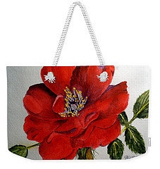 One Lone Wild Rose Weekender Tote Bag
