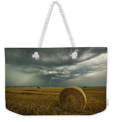 Weekender Tote Bag featuring the photograph One More Time A Round by Aaron J Groen