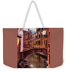 One Of The Many Canals Of Venice Weekender Tote Bag