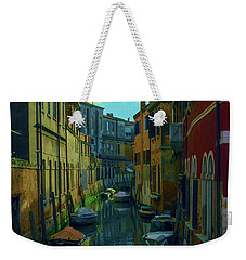 one of the many Venetian canals at the end of a Sunny summer day Weekender Tote Bag