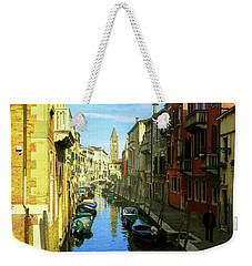 one of the many Venetian canals on a Sunny summer day Weekender Tote Bag