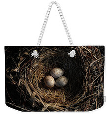 One Of The Most Private Things In The World Is An Egg Until It Is Broken Mfk Fisher Weekender Tote Bag by Mark Fuller