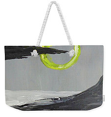 Weekender Tote Bag featuring the painting One Of Those Days by Victoria Lakes