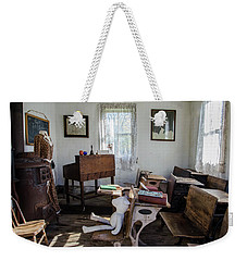 Weekender Tote Bag featuring the photograph One Room Schoolhouse by Ann Bridges