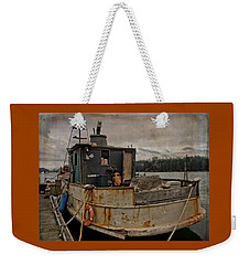 Weekender Tote Bag featuring the photograph One Salty Dog by Thom Zehrfeld