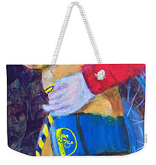 Weekender Tote Bag featuring the painting One Team Two Heroes 3 by Donald J Ryker III