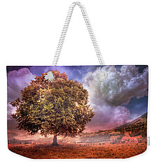 Weekender Tote Bag featuring the photograph One Tree In The Meadow by Debra and Dave Vanderlaan