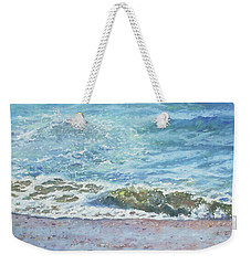 Weekender Tote Bag featuring the painting One Wave by Martin Davey