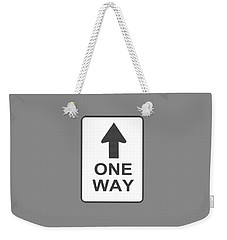 One Way T-shirt Weekender Tote Bag