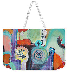 One Way To Go Weekender Tote Bag by Susan Stone