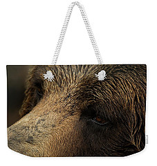 Weekender Tote Bag featuring the photograph One Who Sees - Grizzly Bear Art by Jordan Blackstone