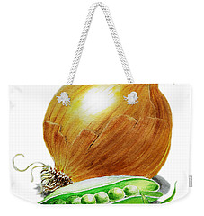 Onion And Peas Weekender Tote Bag by Irina Sztukowski