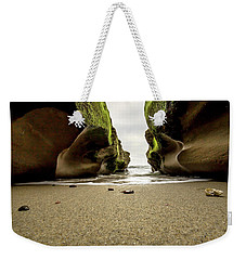 Weekender Tote Bag featuring the photograph Only At Low Tide by Ryan Weddle
