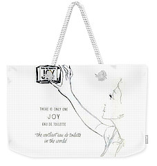 Weekender Tote Bag featuring the digital art Only One by ReInVintaged