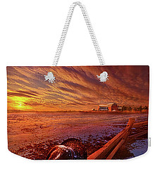 Weekender Tote Bag featuring the photograph Only This Moment In Between Before And After by Phil Koch
