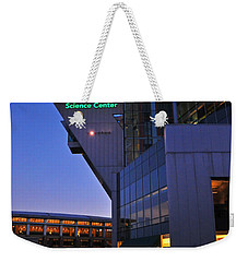 Weekender Tote Bag featuring the photograph Connecticut Science Center by Mike Martin