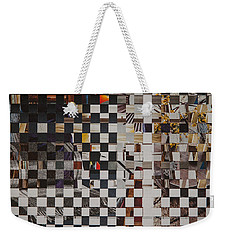 Weekender Tote Bag featuring the mixed media Op Art 101 by Jan Bickerton