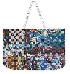 Weekender Tote Bag featuring the mixed media Op Art 102 by Jan Bickerton