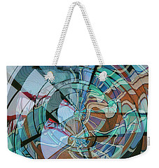 Op Art Windows Double Exposure Weekender Tote Bag