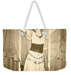 Weekender Tote Bag featuring the photograph OPA by Denise Fulmer