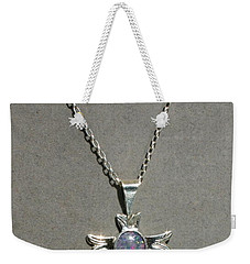 Weekender Tote Bag featuring the photograph Opal Cross by Marie Neder