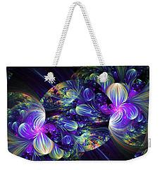 Weekender Tote Bag featuring the digital art Opal Essence by Lea Wiggins