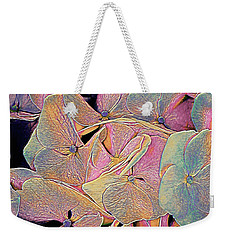 Weekender Tote Bag featuring the mixed media Opal Hydrangea by Susan Maxwell Schmidt