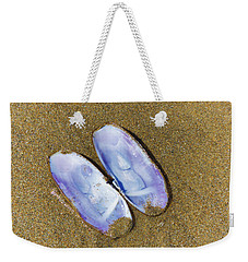 Open Clam Shell Weekender Tote Bag