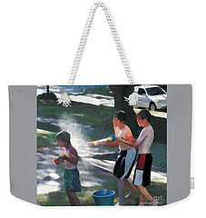 Weekender Tote Bag featuring the photograph Open Fire by Jodie Marie Anne Richardson Traugott          aka jm-ART