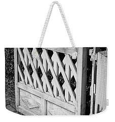 Open Garden Gate B W Weekender Tote Bag