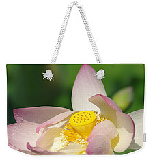 Open Lotus Weekender Tote Bag