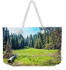 Weekender Tote Bag featuring the photograph Open Meadow- by JD Mims
