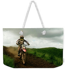 Weekender Tote Bag featuring the painting Open Range P D P by David Dehner
