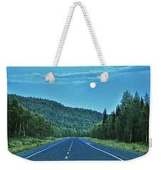 Open Roads In Alaska Weekender Tote Bag