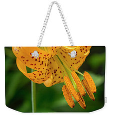 Weekender Tote Bag featuring the photograph Open Tiger Lily by Jean Noren
