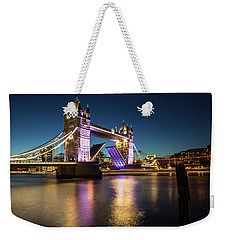 Weekender Tote Bag featuring the photograph Open Tower Bridge London  by Mariusz Czajkowski