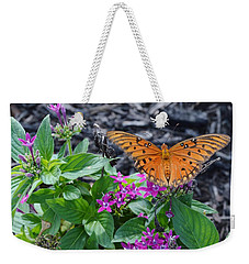 Open Wings Of The Gulf Fritillary Butterfly Weekender Tote Bag