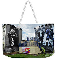 Weekender Tote Bag featuring the photograph Operation Motorman Mural In Derry by RicardMN Photography