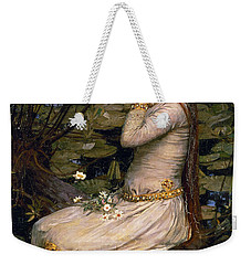Ophelia Weekender Tote Bag by John William Waterhouse