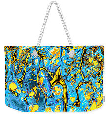 Weekender Tote Bag featuring the painting Opportunities by Anastasiya Malakhova