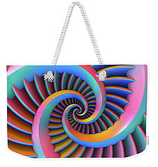 Opposing Spirals Weekender Tote Bag by Lyle Hatch