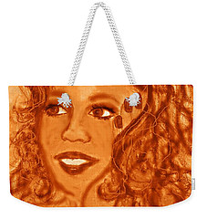 Weekender Tote Bag featuring the mixed media Oprah by Desline Vitto