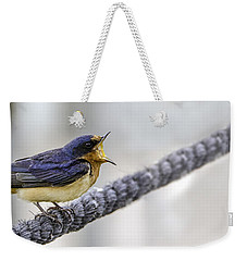 Weekender Tote Bag featuring the photograph Oprah In The Marsh by Steven Santamour